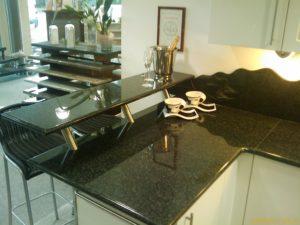 Küchenplatte Granit schwarz