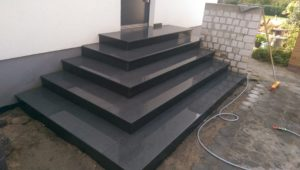 Granit Eingangs-Podest schwarz
